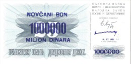 Bosnia And Herzegovina - Pick 35b - 1.000.000 (1000000) Dinara 1993 - Unc - Bosnia Erzegovina