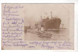 Nr.  6375,  FOTO-AK,  Zeebrugge Mit Leuchturm, U-Boot, Dampfer - Zeebrugge
