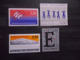 FRANCE - Année 1989 - N° 2560 à 2563 Neuf ** - Nuovi