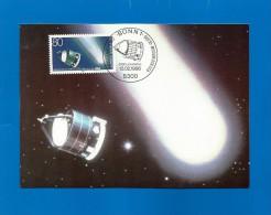 BRD 1986  Mi.Nr. 1273 ,  Astronomie-Komet Hally - Hagenbach Maximum Karte - Stempel Bonn 13.02.1986 - Astrologie