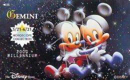 Télécarte Japon DISNEY STORE * 110-211035 * Zodiaque GEMINI  Japan HOROSCOPE  ZODIAQUE * MINT * Inutilisé  (4662) - Disney