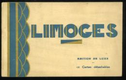 87 Haute Vienne  Limoges Carnet Complet De 12 CPA - Limoges