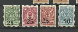 RUSSLAND RUSSIA 1918 Don - Gebiet Rostow Michel 2 - 5 MNH/MH
