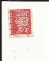 Timbre 1 Fr -Petain_Perforé ( B P S )  Bon Etat 1941 - Gezähnt (Perforiert/Gezähnt)
