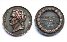 Médaille Victorius Alfieri. Euripidi Italico, Post Saecula. Italie. Cuivre - Royaux/De Noblesse