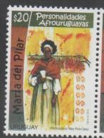 URUGUAY,2015, MNH,FAMOUS WOMEN, AFROURUGUYAN PERSONALITIES, AMRIA DEL PILAR, 1v - History