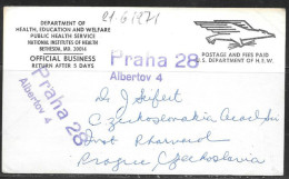 1971 Official Government PC, Maryland To Czechoslovakia - United States