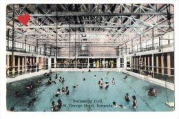 05034-LE-AMERIQUE-ANTILLES-Swimming Pool,St.Georges Hotel,Bermuda----------animée - Bermudes