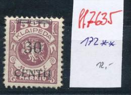 Memel Nr. 172   **   (ff7635  ) Siehe Scan - Klaipeda
