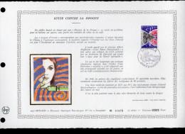 """DAP 1er Jour Nté / Soie RARE (2600 Ex) De 1977 """" LUTTE CONTRE LA DROGUE. """" N°YT 1118. Parf état. FDC - FDC"""