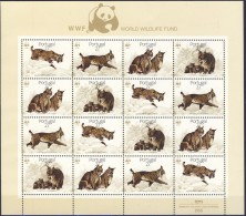 ##P210. Portugal 1988. WHO. Fauna. Sheetlet. Michel 1741-44. MNH(**) BIG SIZE, Consider Shipping Expenses! - Blocs-feuillets