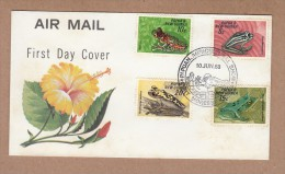 Papua New Guinea  FDC 1968 Frogs - Grenouilles