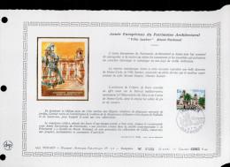 """DAP 1er Jour Nté / Soie RARE (2500 Ex) De 1975 """" MUSEE NATIONAL / VILLA SAUBER """" N° YT 1016. Parfait état. FDC - FDC"""