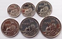 Eritrea Set Of 6 Coins , 1, 5,10,25, 50 ,100 Cents, 1997, UNC , Animals, Africa Coins - Erythrée