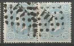 31  Paire  Obl  LP 141 Gand - 1869-1883 Léopold II