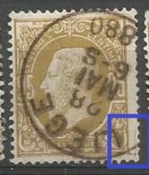32  Obl  Liège  LV 13  Angle Pointu + LCV 6  Tache Marge - 1869-1883 Léopold II
