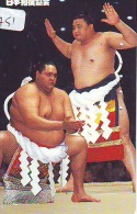 Télécarte  Japon * SUMO (751)  LUTTE  LUTTEURS WORSTELEN * JUDO * Kampf Wrestling *  LUCHA * PHONECARD JAPAN - Sport