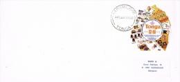 BR 1064 BRIEF TONGA YVERT NRS 453 ZIE SCAN - Tonga (1970-...)