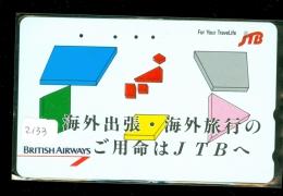 Télécarte  JAPON * BRITISH AIRWAYS (2133) Phonecard JAPAN * Airplane * Flugzeug Avion * AVION * AIRLINES * - Flugzeuge