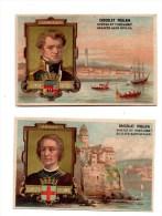 Chocolat Poulain.Navigateurs. Christo Colomb.Genes.Dumont Durville.Lorient. - Poulain