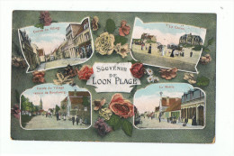 LOON PLAGE - 59 - SOUVENIR MULTI VUES - Centre Village , Casino , Mairie , Entrée Venant Bourbourg - Zonder Classificatie