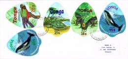 BR 1060 BRIEF TONGA YVERT NRS 439/443 ZIE SCAN THEMA DIEREN - Tonga (1970-...)