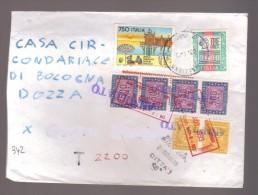 4678-Da Campogalliano A Bologna Casa Circondariale 23/08/1993 Bell'insieme Di Timbri Accessori Su Raccomandata Rifiutata - 6. 1946-.. Republic