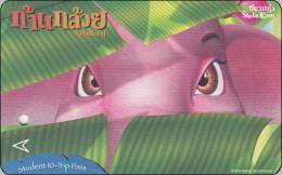 Thailand Ticket BTS Card Eisenbahn  Comic Elefant - Thaïland