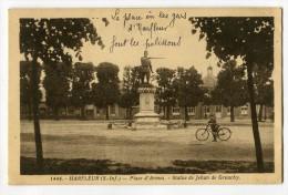 Ref 198 - HARFLEUR - Place D'Armes - Statue De JEHAN De GROUCHY (1936) - Harfleur