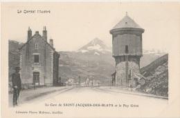 15 - SAINT-JACQUES-DES-BLATS - Gare De Saint-Jacques-des-Blats Et Le Puy Griou (impeccable) - France