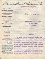 VP3568 - Tabac - Lettre Des Anciens Ets BRISSONNEAU & LOTZ Mécanique Générale à NANTES Pour  Mr Th. SCHOESING à PARIS - Documents