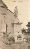 01 - MANZIAT - MONUMENT AUX MORTS  - CPA - 2SCANS. - Sin Clasificación