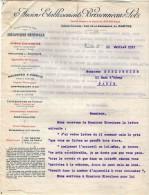 VP3569 - Tabac - Lettre Des Anciens Ets BRISSONNEAU & LOTZ Mécanique Générale à NANTES Pour  Mr Th. SCHOESING à PARIS - Documenten