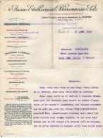 VP3569 - Tabac - Lettre Des Anciens Ets BRISSONNEAU & LOTZ Mécanique Générale à NANTES Pour  Mr Th. SCHOESING à PARIS - Dokumente