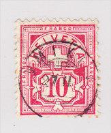 Heimat AG UMIKEN 27.2. Zwergstempel Auf 10Rp Wertziffer #61 - 1882-1906 Armoiries, Helvetia Debout & UPU