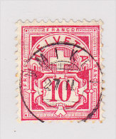 Heimat AG UMIKEN 27.2. Zwergstempel Auf 10Rp Wertziffer #61 - 1882-1906 Wappen, Stehende Helvetia & UPU