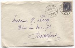 Grand Duché De Luxembourg TP Charlotte Càp Luxembourg-Gare En 1937 V.Boitsfort Belgique PR2904 - Covers & Documents