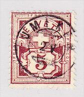 Heimat AG UMIKEN 2.5. Zwergstempel Auf 5Rp Wertziffer #60 - 1882-1906 Armoiries, Helvetia Debout & UPU