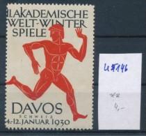 Schweiz Vignette Davos   (u 5146 ) Siehe Scan - Fantasie Vignetten
