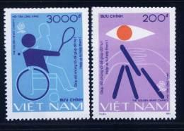 Vietnam Viet Nam MNH Perf Stamps 1991 : Helping Disable People / Tennis / Handicap (Ms629) - Vietnam