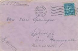 297/24 - JEUX OLYMPIQUES LOS ANGELES USA - Vignette Anti-Tuberculeuse Sur Lettre NEW YORK 1932 Vers ALLEMAGNE