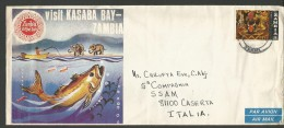 SPE35--- POSTAL HISTORY,  ZAMBIA,   -- CASERTA,  ITALIA, - Zambia (1965-...)