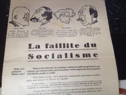 TRACT, 1924, LA FAILLITE DU SOCIALISME, DEPLIANT 4 PAGES. - Documenti Storici