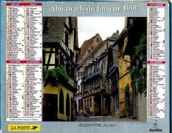 ALMANACH DES P.T.T 1998 (35)  - Complet ** DINAN (35) - RIQUEWIHR (68) ** Calendrier * OBERTHUR * N°R 90 - Calendriers