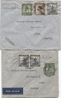 Belgisch Congo Belge 12 Lettres Avion Affranchissements Divers C.Elisabethville 1945-1946 V.Liège  Belgique PR2910 - Congo Belge