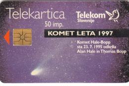 SLOVENIA SLOVENIJA PHONECARD 1997 KOMET HALE BOPP IMELDA 8000 SPACE ASTRONOMY  TELEKOM CAT.NO. 040 - Astronomy