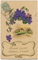 Deltiology Collection Carte Postale  Carte Gaufrée Et En Soir La Carte Postale Entretient L' Amitié Embossed Silk - Cartes Postales