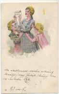 Deltiology Collection Carte Postale  Jeunes Filles Recevant Une Carte Postale Illustrée - Cartes Postales