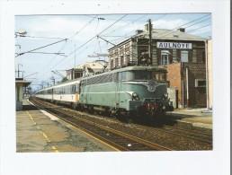 EN GARE D'AULNOYE (59) 368 EN TETE D'UN TRAIN PARIS NORD- BRUXELLES MIDI LA BB 16023 VA S'ARRETER 07 92 - Aulnoye