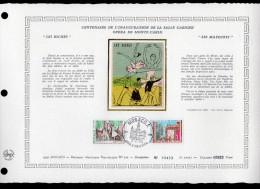 "DAP 1er Jour Nté / Soie RARE (2200 Ex) De 1979 "" OPERA GARNIER : BICHES / MATELOTS "" N° YT 1190 1191. Parf. état. FDC - FDC"